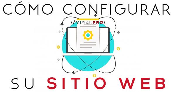 Configuración para un sitio web