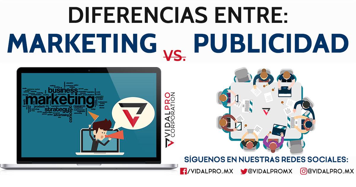 Diferencias entre Marketing y Publicidad.